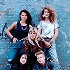 Julia Roberts, Trini Alvarado, Justine Bateman, Scott Coffey, and Britta Phillips in Satisfaction (1988)