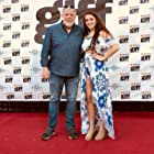 Jim with Jenna Ruiz at the premiere of Between Waves