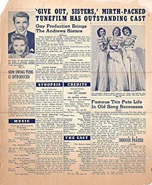 Edward F. Cline Give Out, Sisters Movie