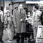Esma Cannon, Peter Jones, Miriam Karlin, and Reg Varney in The Rag Trade (1961)