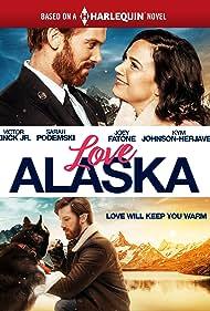 Sarah Podemski, Luna The Dog, and Victor Zinck Jr. in Love Alaska (2019)