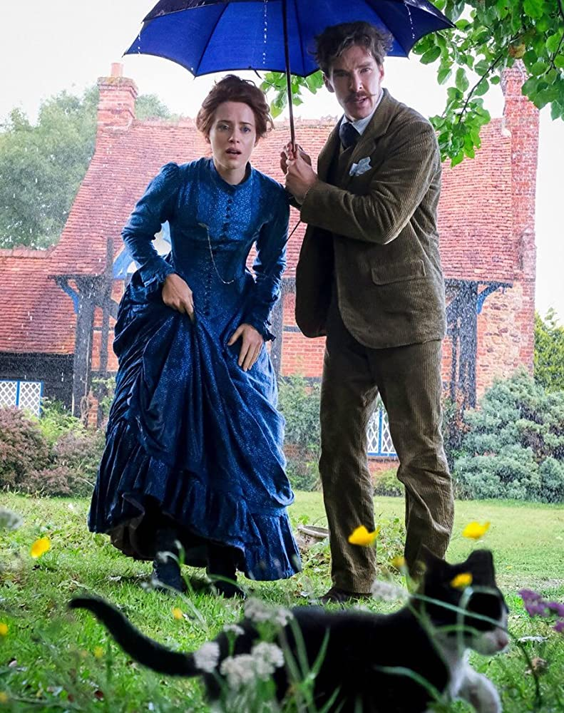 Benedict Cumberbatch and Claire Foy in Louis Wain (2020)
