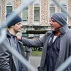 Bill Goldberg and Grant Gustin in The Flash (2014)