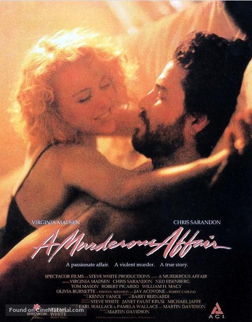 Virginia Madsen and Chris Sarandon in A Murderous Affair: The Carolyn Warmus Story (1992)