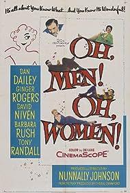 David Niven, Ginger Rogers, Dan Dailey, Tony Randall, and Barbara Rush in Oh, Men! Oh, Women! (1957)