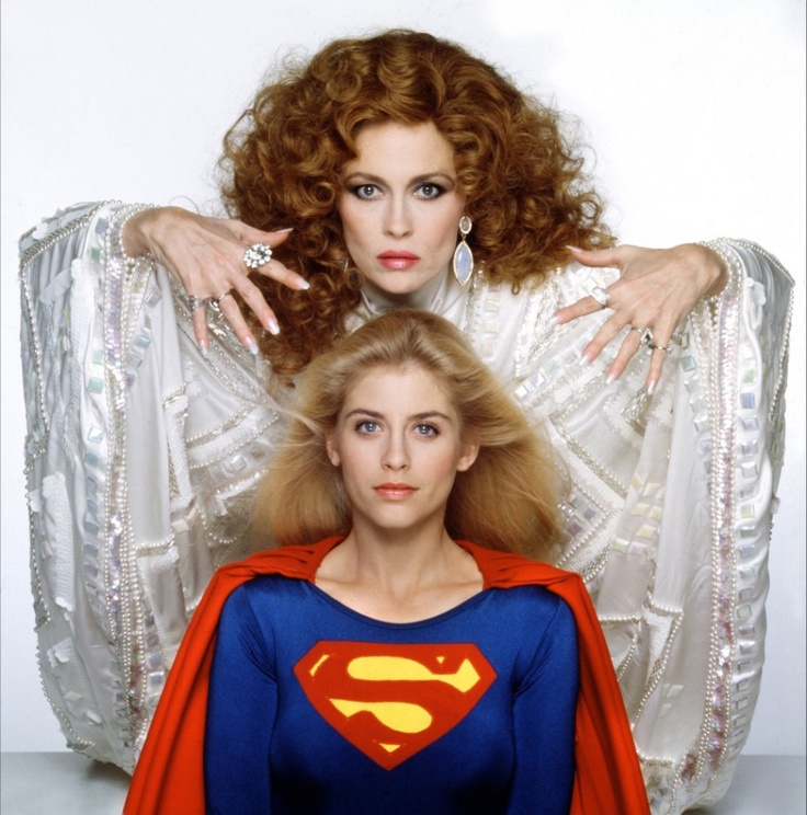 Helen Slater and Faye Dunaway in Supergirl (1984)