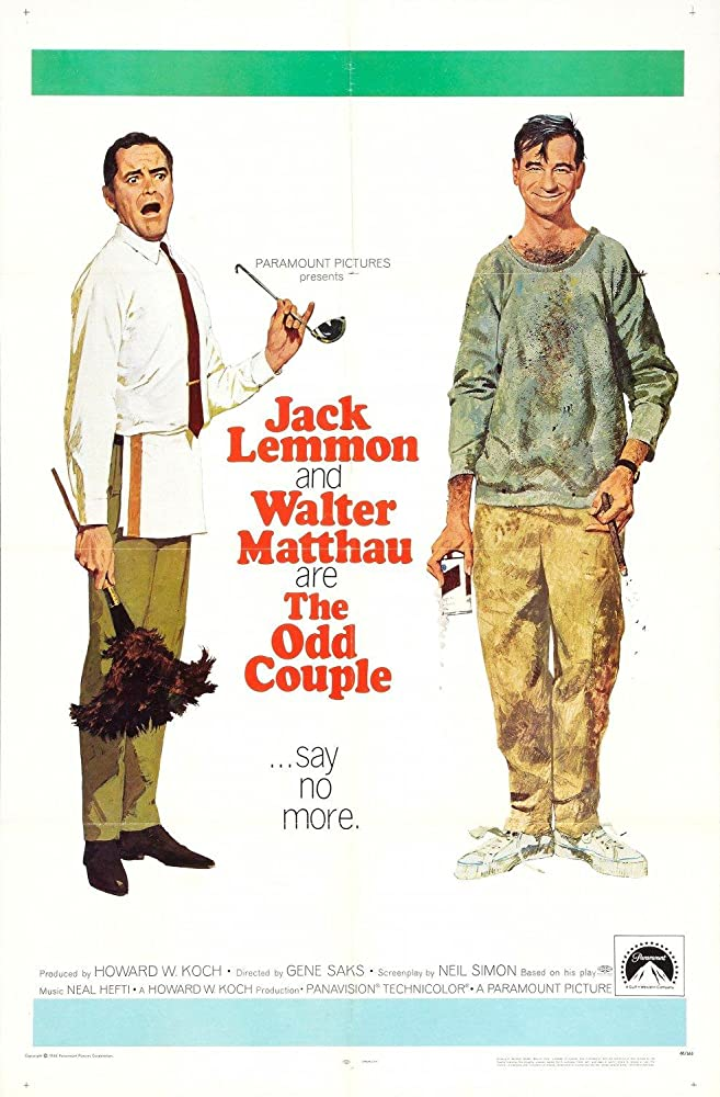 Jack Lemmon and Walter Matthau in The Odd Couple (1968)