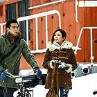 Ziyi Zhang and Eddie Peng in Zai shi jie de zhong xin hu huan ai (2016)
