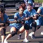 Aneesa Ferreira, Chris 'C.T.' Tamburello, Emily Schromm, and Zach Nichols in The Challenge: Champs vs. Pros (2017)