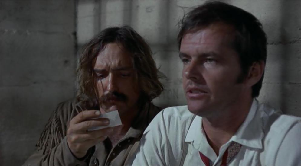 Jack Nicholson and Dennis Hopper in Easy Rider (1969)