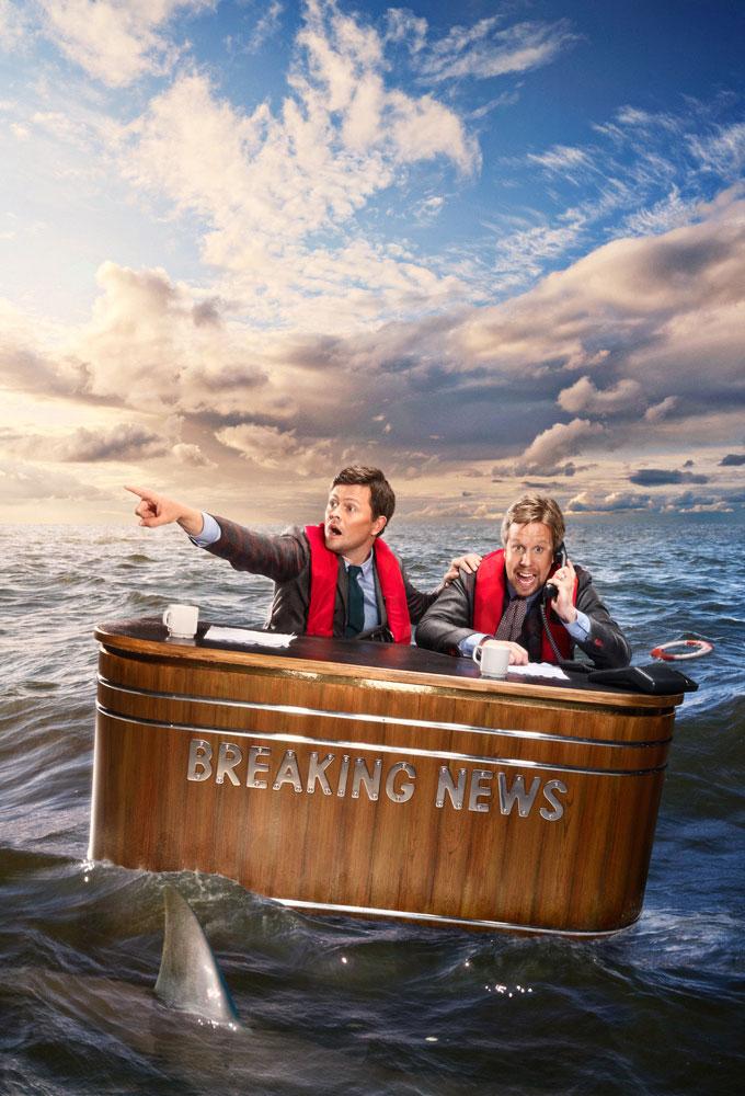 Fredrik Wikingsson and Filip Hammar in Breaking News med Filip och Fredrik (2011)