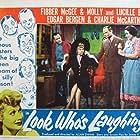Lucille Ball, Edgar Bergen, Jim Jordan, Marian Jordan, and Charlie McCarthy in Look Who's Laughing (1941)