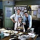 Abe Vigoda, Max Gail, and Hal Linden in Barney Miller (1975)