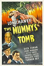 Lon Chaney Jr., Turhan Bey, Dick Foran, Wallace Ford, and Elyse Knox in The Mummy's Tomb (1942)