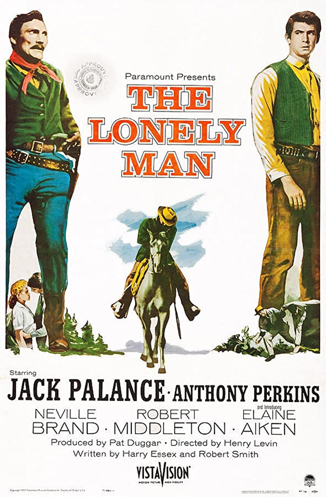 Anthony Perkins and Jack Palance in The Lonely Man (1957)