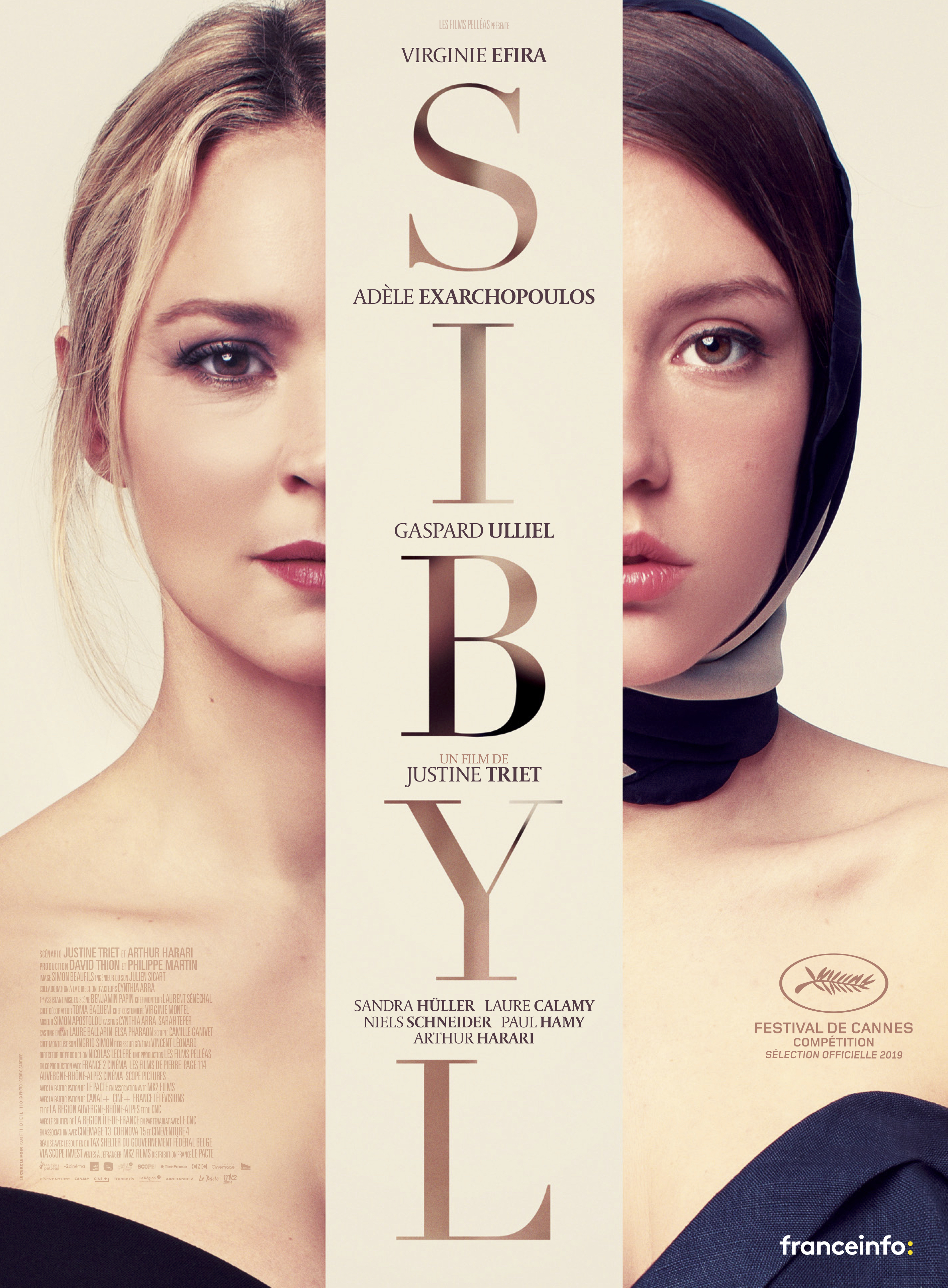 Virginie Efira and Adèle Exarchopoulos in Sibyl (2019)