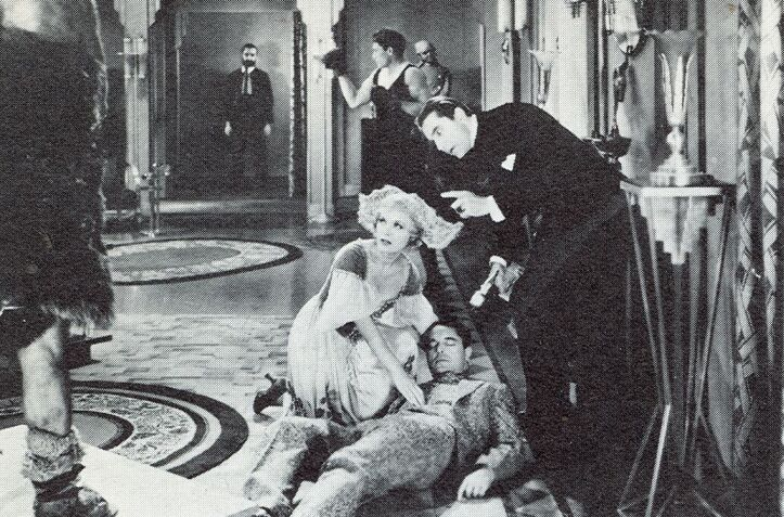 Bela Lugosi, Malcolm McGregor, and Viva Tattersall in The Whispering Shadow (1933)