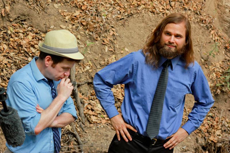 Alex Cohen and Adam Hahn in WRNG in Studio City (2013)