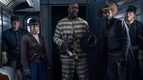 This ain't your grandaddy's Western! Check out Jonathan Majors, Idris Elba, Zazie Beetz, Regina King, Delroy Lindo, LaKeith Stanfield, RJ Cyler, Edi Gathegi, Danielle Deadwyler and Deon Cole in this action-packed thrill ride that injects New Blood into the Old West. The Harder They Fall is directed by Jeymes Samuel and produced by Shawn 'Jay Z' Carter James Lassiter, Jeymes Samuel and Lawrence Bender.
