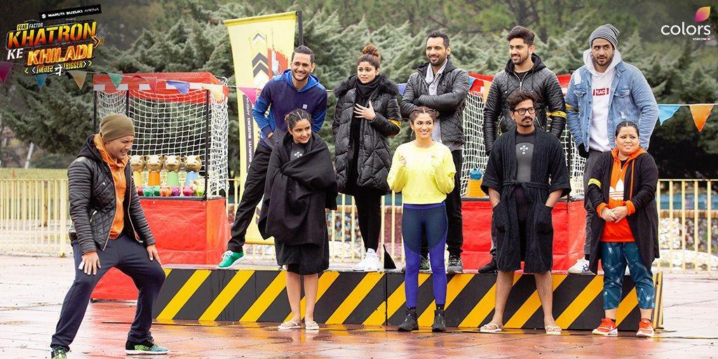 Aditya Narayan, Shamita Shetty, Punit Pathak, Vikas Gupta, Bharti Singh, Jasmin Bhasin, Ali Goni, Zain Imam, Ridhima Pandit, and Harsh Limbachiyaa in Fear Factor: Khatron Ke Khiladi (2008)
