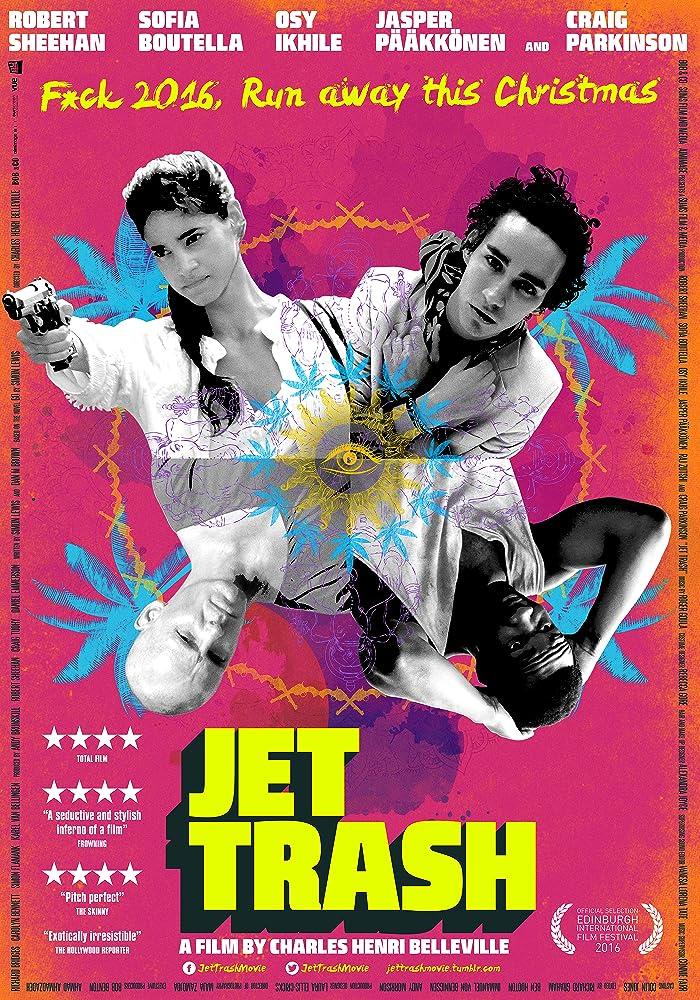Jasper Pääkkönen, Sofia Boutella, Robert Sheehan, and Osy Ikhile in Jet Trash (2016)