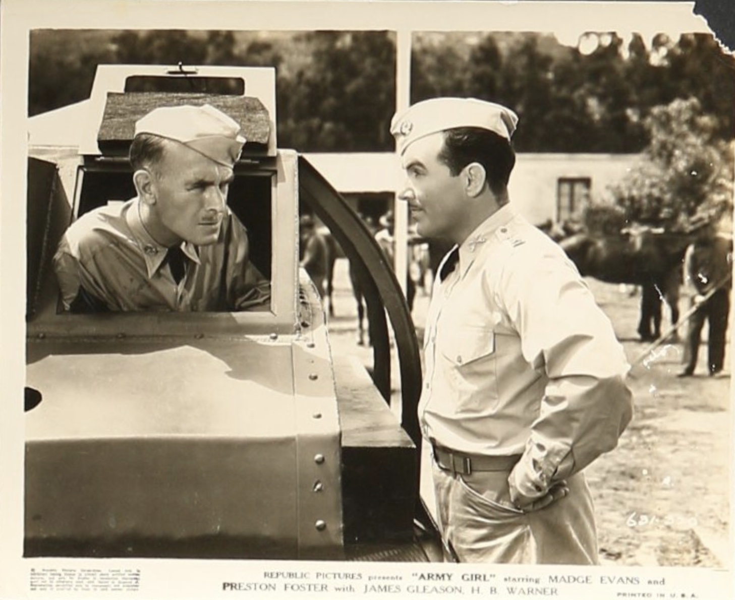 Preston Foster and James Gleason in Army Girl (1938)