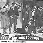 Tim McCoy, Edmund Cobb, John Cowell, and Joan Woodbury in Bulldog Courage (1935)