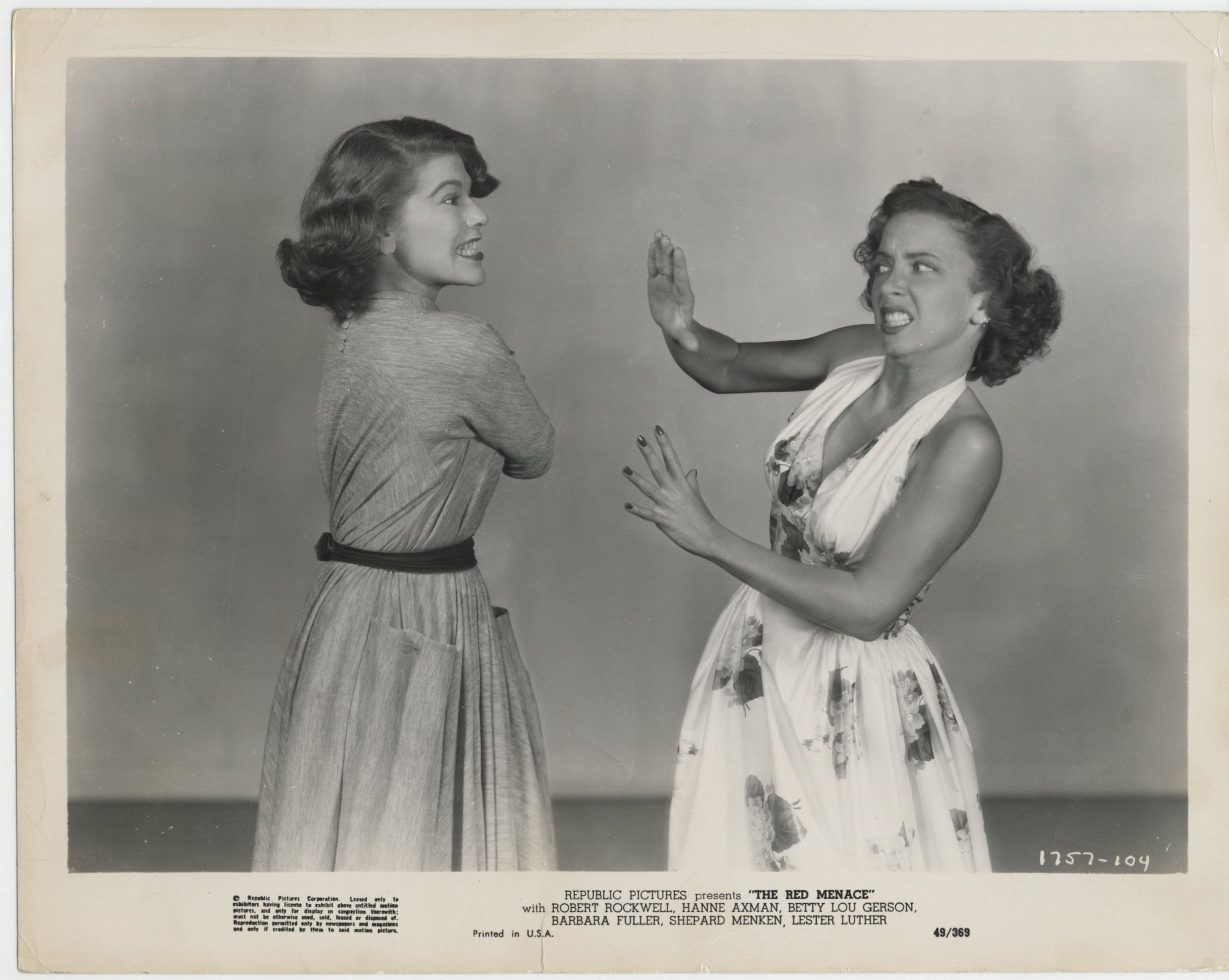 Barbra Fuller and Betty Lou Gerson in The Red Menace (1949)