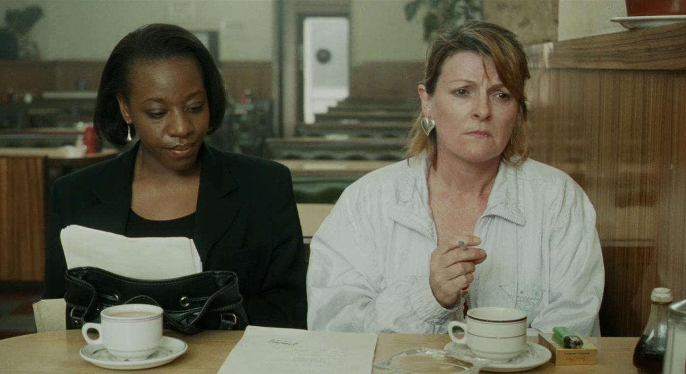 Brenda Blethyn and Marianne Jean-Baptiste in Secrets & Lies (1996)