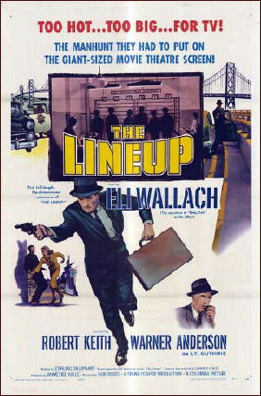 Warner Anderson and Eli Wallach in The Lineup (1958)