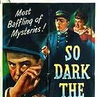Eugene Borden, Micheline Cheirel, and Steven Geray in So Dark the Night (1946)