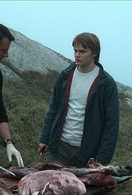 Gísli Örn Garðarsson and David Stakston in Ragnarok (2020)
