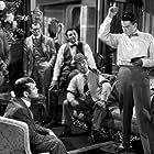 Errol Flynn, Jack Carson, William Frawley, and Rhys Williams in Gentleman Jim (1942)