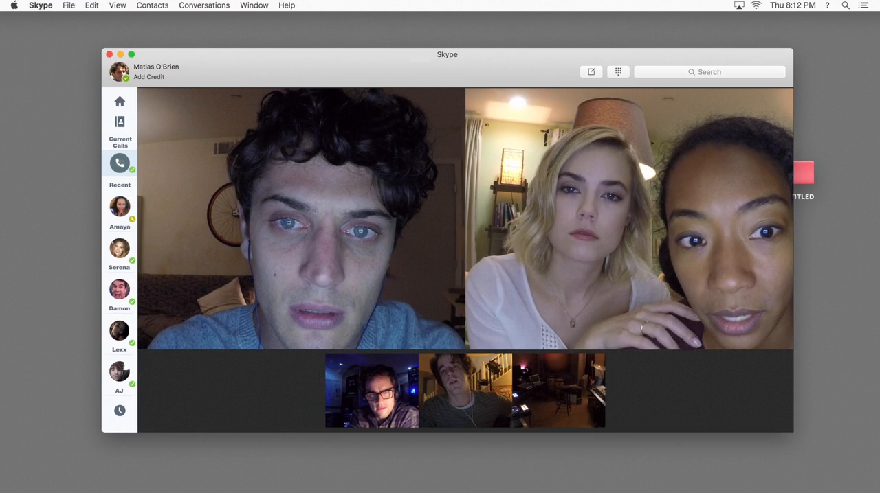Andrew Lees, Betty Gabriel, Connor Del Rio, Rebecca Rittenhouse, and Colin Woodell in Unfriended: Dark Web (2018)