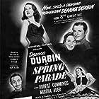 Deanna Durbin, Mischa Auer, and Robert Cummings in Spring Parade (1940)