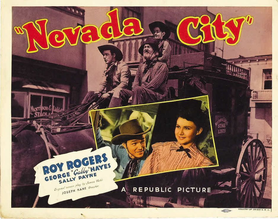 Roy Rogers, George 'Gabby' Hayes, Billy Lee, and Sally Payne in Nevada City (1941)
