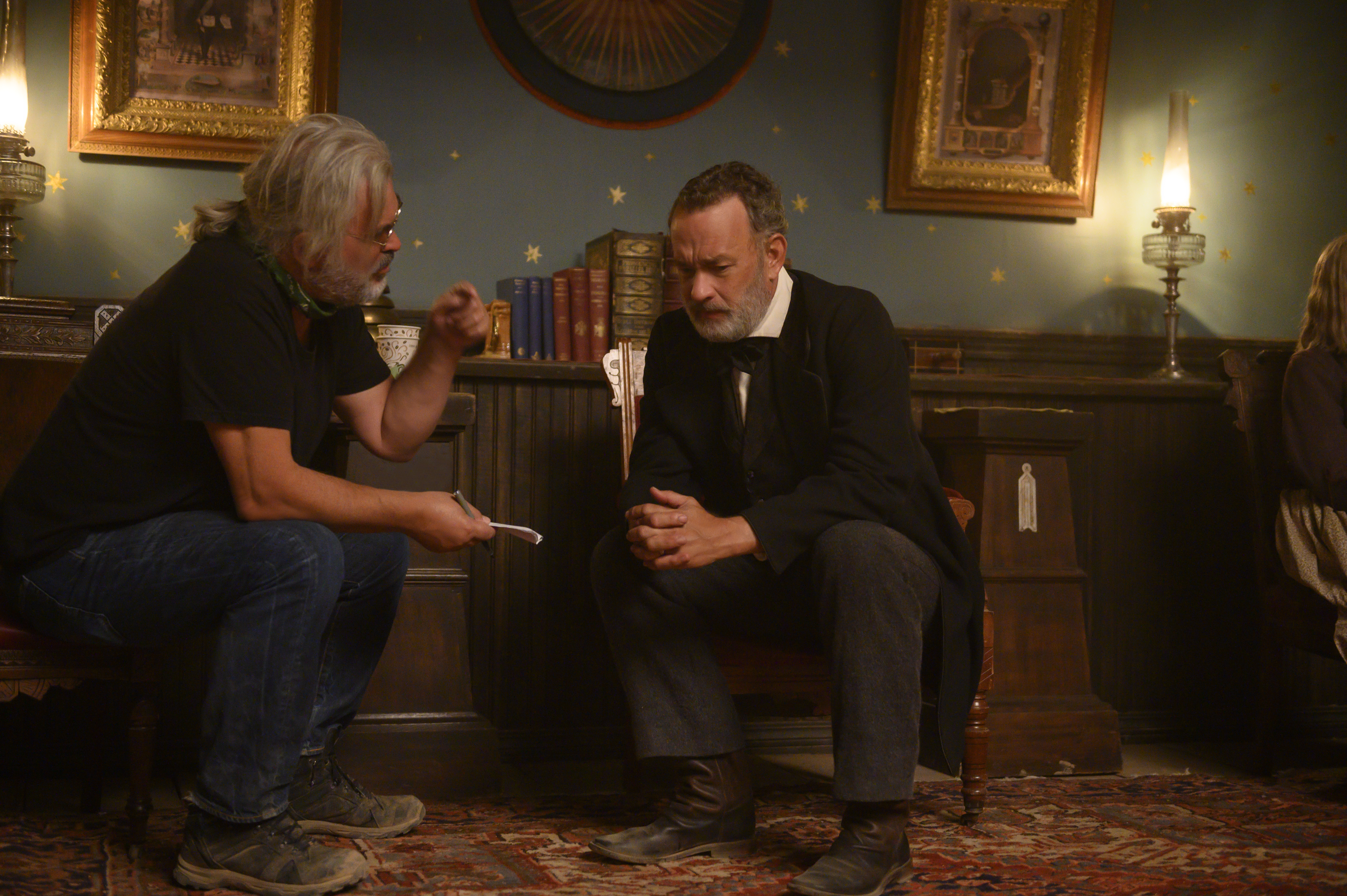 Tom Hanks and Paul Greengrass in News of the World (2020)