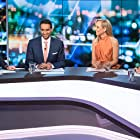 Peter Helliar, Lisa Wilkinson, Carrie Bickmore, and Waleed Aly in The 7PM Project (2009)