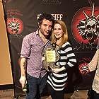 Receiving Best Short Award at the New York City Horror Film Festival