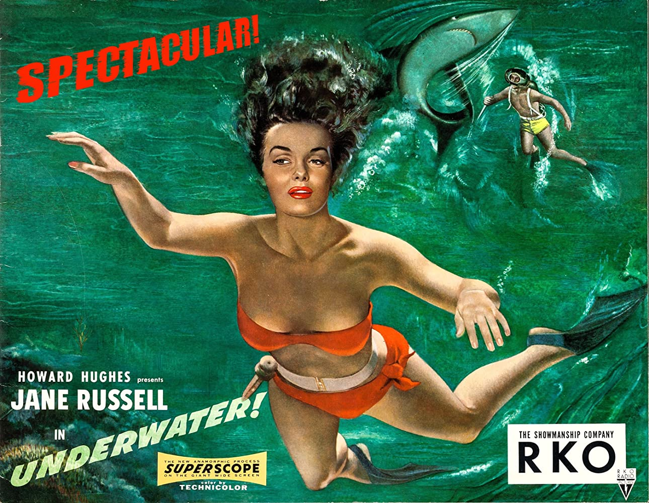 Image result for jane russell underwater