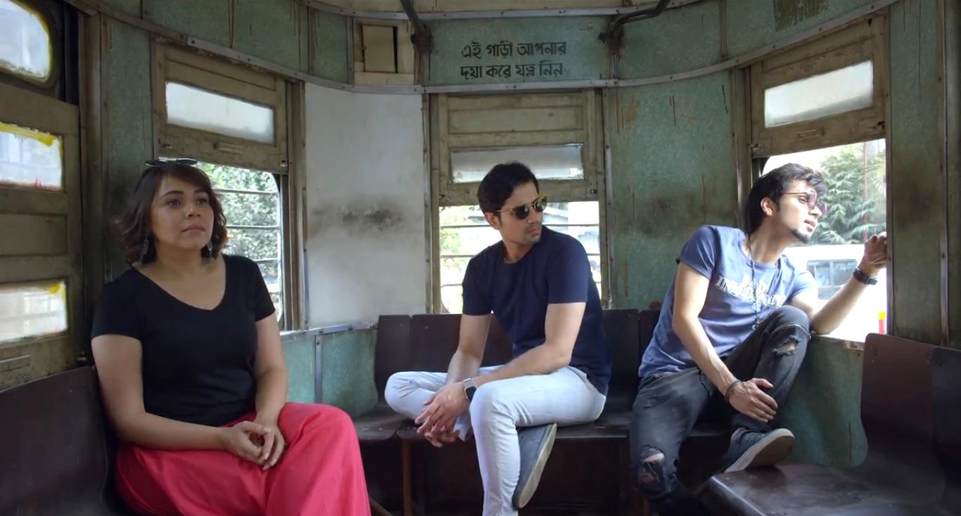 Maanvi Gagroo, Amol Parashar, and Sumeet Vyas in Bandhu Re (2019)