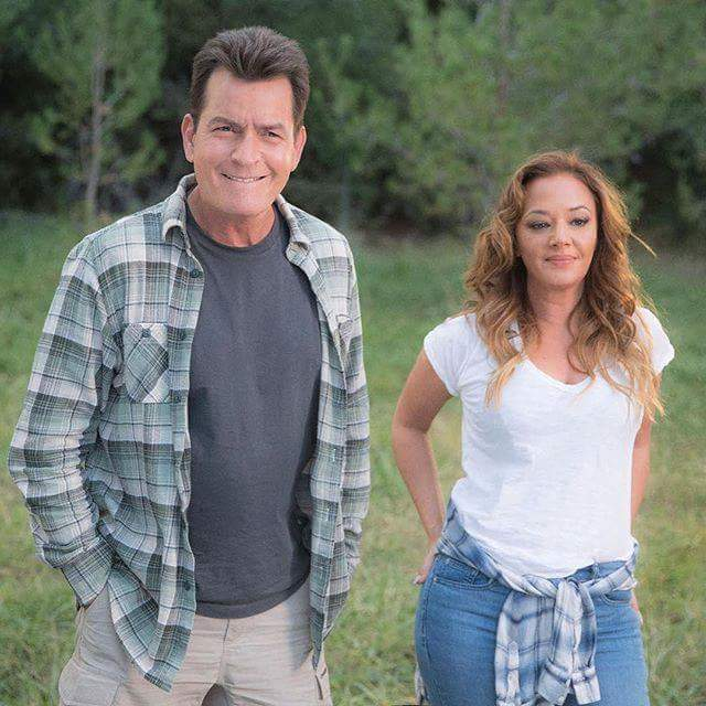 Charlie Sheen and Leah Remini in Mad Families (2017)