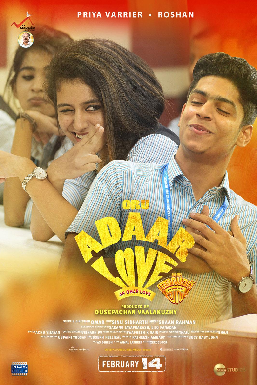 Ek Dhansu Love Story (Oru Adaar Love) 2021 Hindi Dubbed 720p HDRip 810MB Download