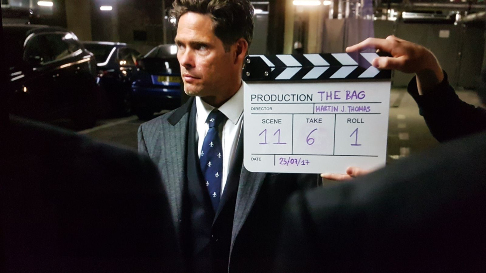 On location in London  Feature Film - THE BAG  Directed by Martin J Thomas