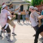 Colleen Donovan, Jimmy Tatro, Cody Ko, and Nick Colletti in The Real Bros of Simi Valley (2017)