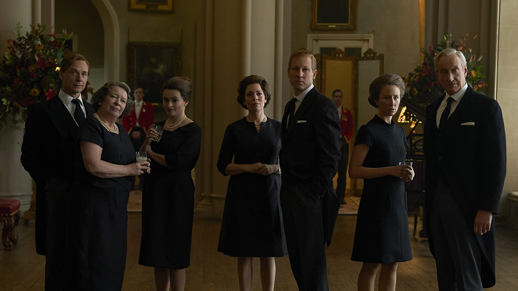 Helena Bonham Carter, Marion Bailey, Ben Daniels, and Olivia Colman in The Crown (2016)