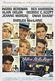 Ingrid Bergman, Shirley MacLaine, Alain Delon, Rex Harrison, George C. Scott, Omar Sharif, and Jeanne Moreau in The Yellow Rolls-Royce (1964)