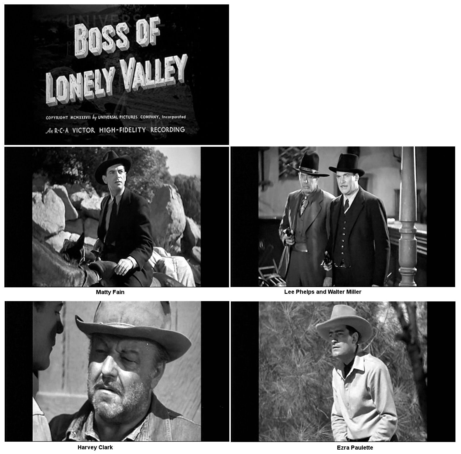 Harvey Clark, Matty Fain, Walter Miller, Ezra Paulette, and Lee Phelps in Boss of Lonely Valley (1937)