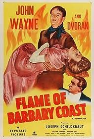 John Wayne, Ann Dvorak, and Joseph Schildkraut in Flame of Barbary Coast (1945)