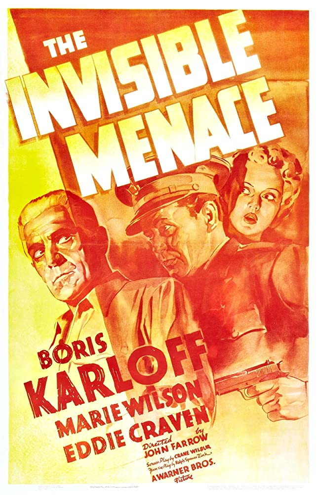 Boris Karloff, Eddie Craven, and Marie Wilson in The Invisible Menace (1938)